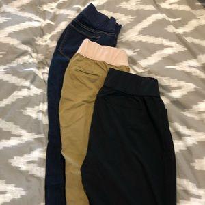 Lot of 3 Gap maternity pants